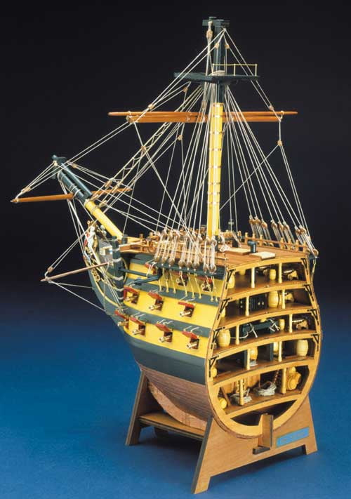 Panart HMS Victory Bow Section Wooden Ship Kit 746 | Hobbies
