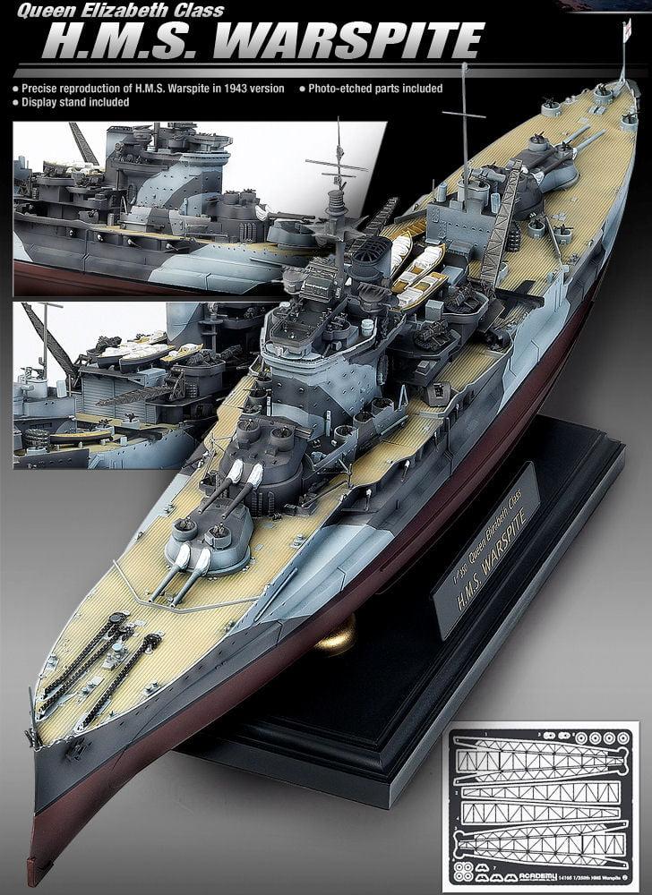 Academy Models Hms Warspite Plastic Model Boat Kit 14105