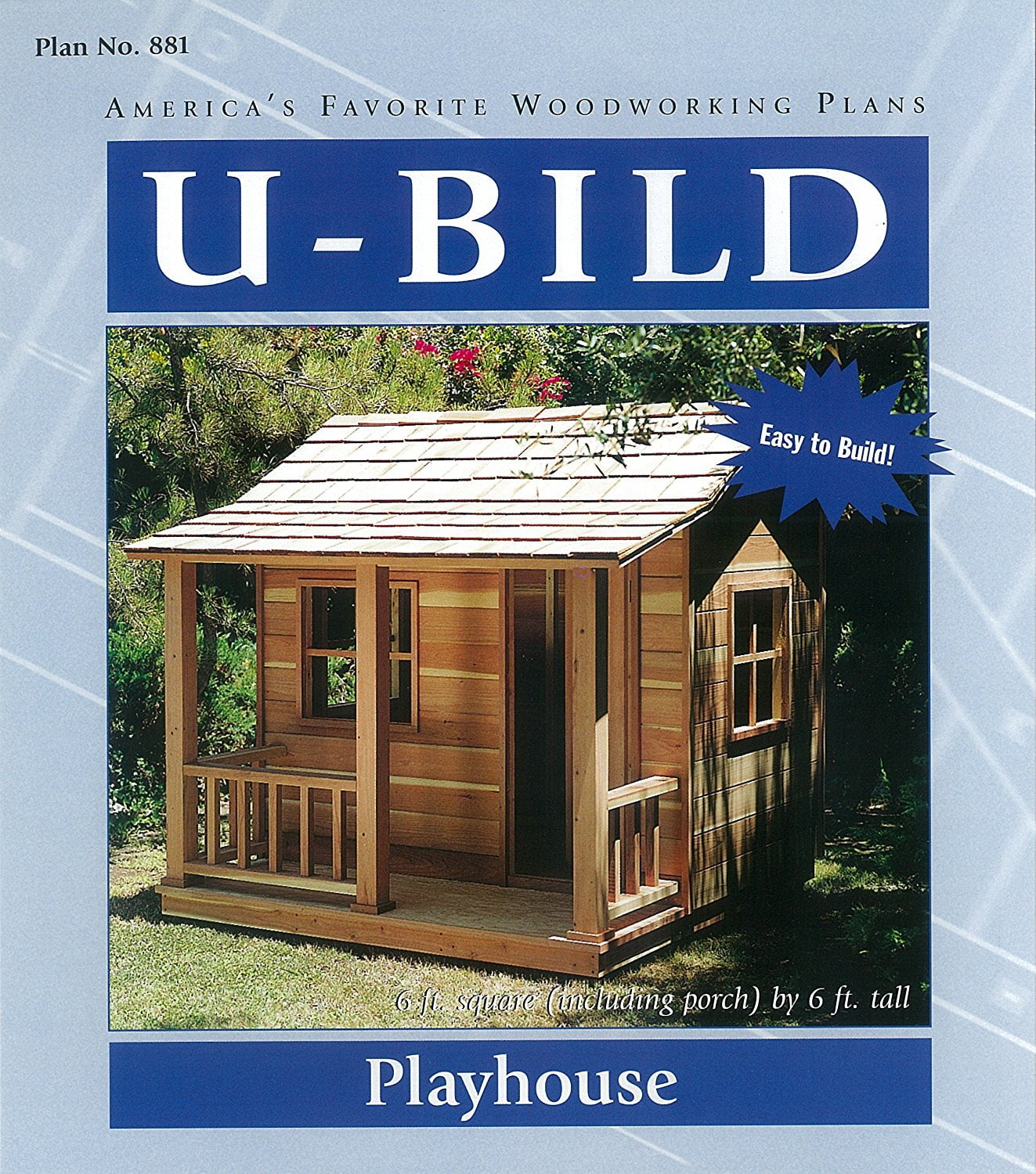 Playhouse With Porch Woodworking Project Paper Plan No 881