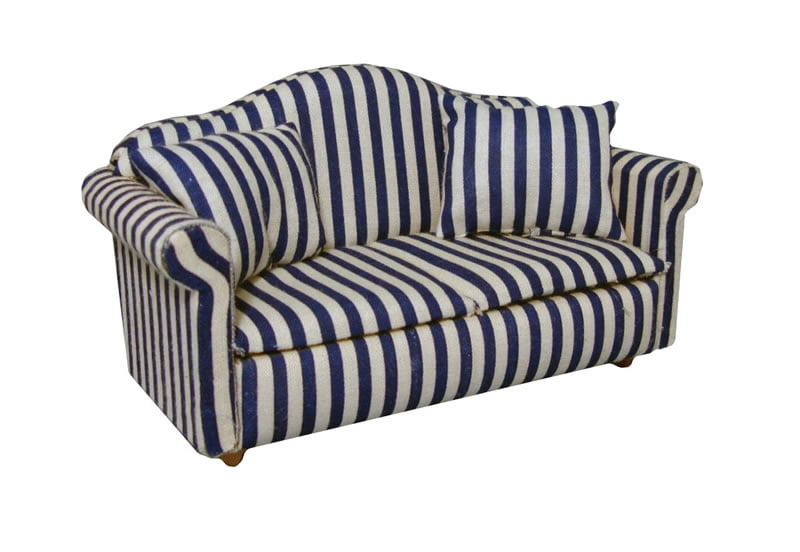 12th scale blue striped sofa hobbies. Black Bedroom Furniture Sets. Home Design Ideas