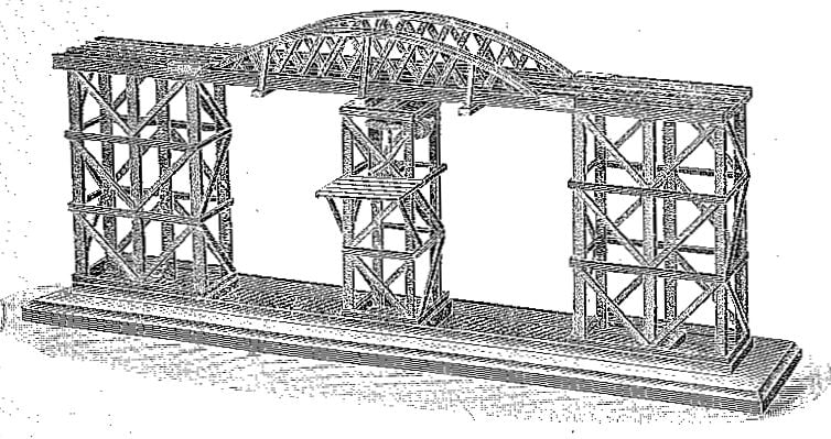 Stripwork Swing Bridge