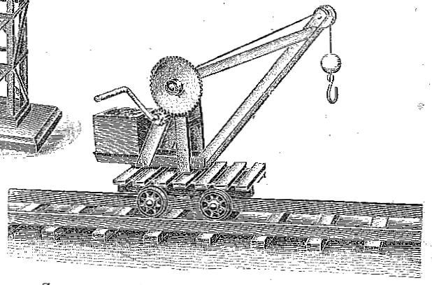 Stripwork Model of Travelling Jib Crane