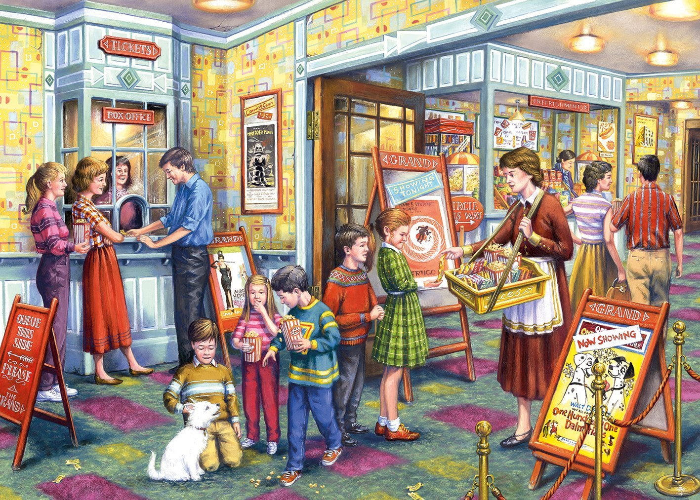 Gibsons The Flicks A Trip To The Cinema 1000 Piece