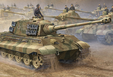 Trumpeter King Tiger Tank 16th Scale Plastic Model Kit