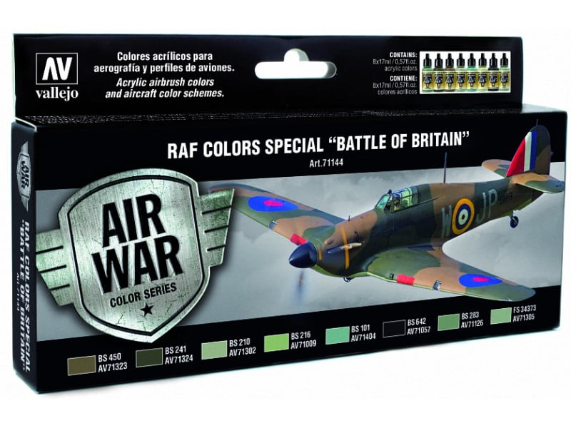 Vallejo Model Air Paint Set RAF Colors Special