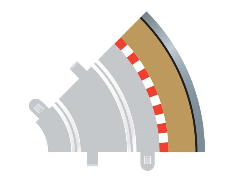 Radius 1 Curve Outer Borders 45 x 4