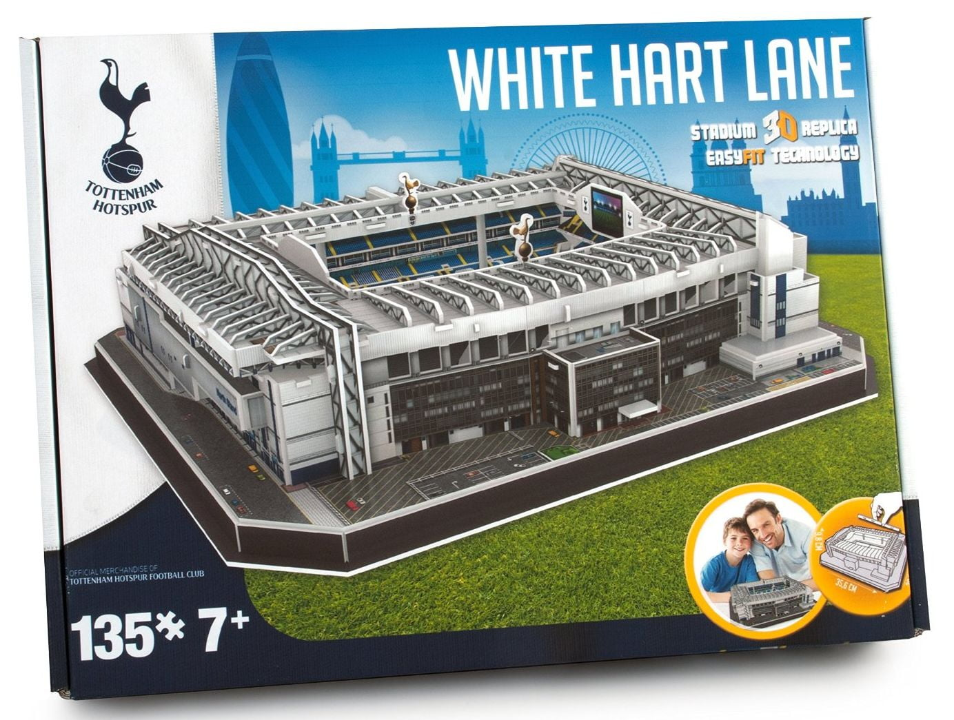 quality design aba35 fc8c3 3D Tottenham Hotspur Football Club White Hart Lane Stadium Model Kit